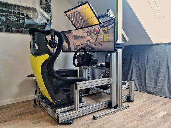 """42SimStudio - Alu Sim Rig DIY 49"""" Ultra Wide Monitor"""